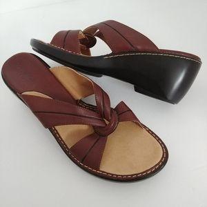 Covington Gigi Open Toe Leather Wedge Sandal